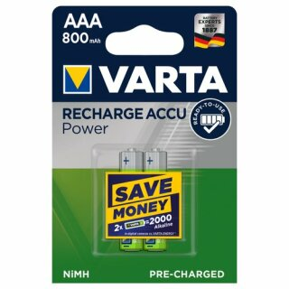 VARTA RECHARGE ACCU Power AAA 800mAh Blister 2