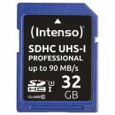 Intenso 32GB SDHC UHS-I Professional Secure Digital Card